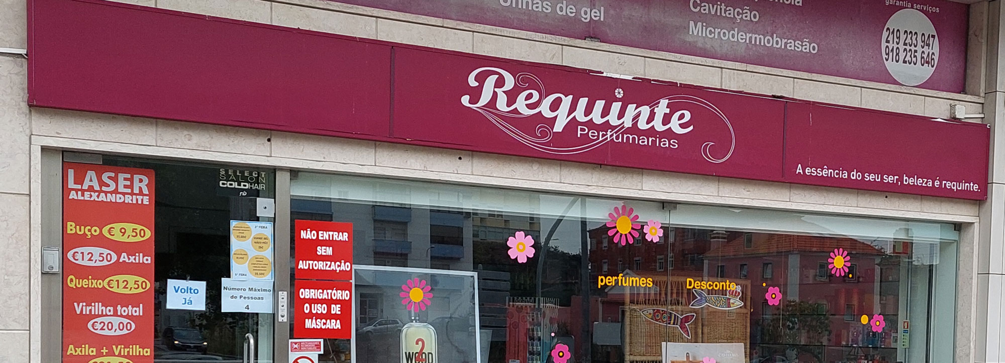 Requinte Perfumarias banner